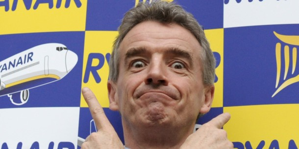 Ryanair CEO Michael O'Leary poses for ph