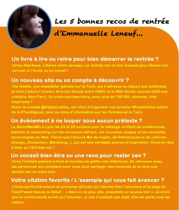 La Rentree Et Une Nouvelle Saison Du Flashtweet Dans Le Viseur